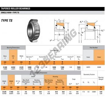 02473-02420-TIMKEN - 25.4x68.26x22.23 mm