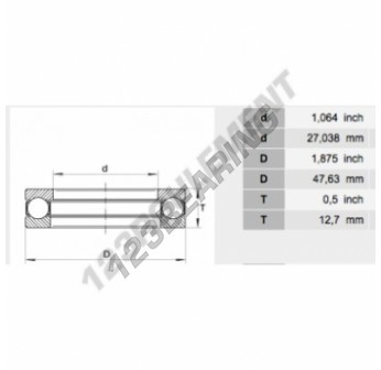 10XS18 - 27.04x47.63x12.7 mm