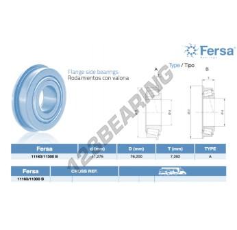 11163-11300B-ASFERSA - 41.28x76.2x7.29 mm