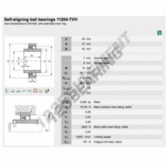 11204-TVH-FAG - 20x47x40 mm