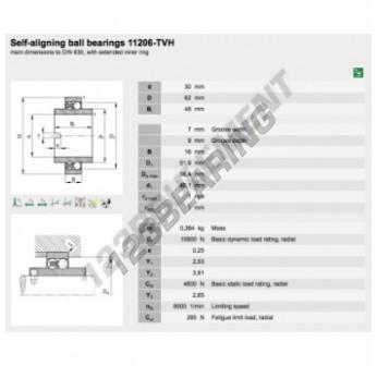 11206-TVH-FAG - 30x62x48 mm