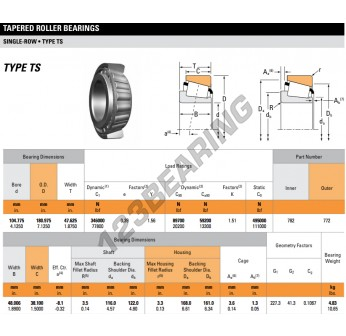 Timken 782 Tapered Roller Bearing