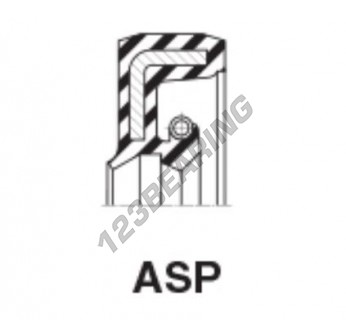 ASP-12.70X25.40X6.35-NBR - 12.7x25.4x6.35 mm