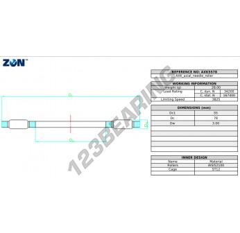 AXK5578-ZEN - 55x78x3 mm