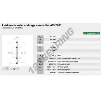 AXK6085-INA - 60x85x3 mm