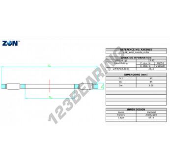 AXK6085-ZEN - 60x85x3 mm