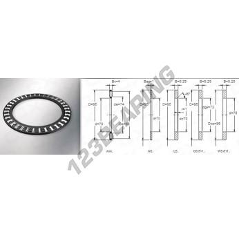 AXK7095 - 70x95x4 mm