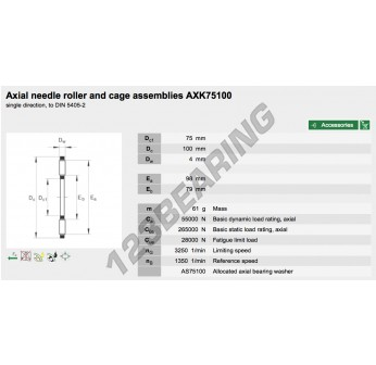 AXK75100-INA - 75x100x4 mm