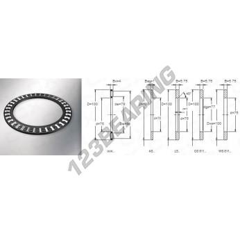 AXK75100 - 75x100x4 mm