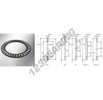AXK90120 - 90x120x4 mm