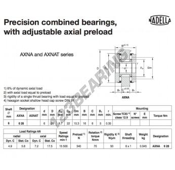 AXNA628-NADELLA - 6x22x16 mm