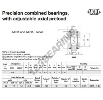 AXNA732-NADELLA - 7x26x18 mm