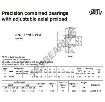 AXNBT40100-NADELLA - 40x65x48 mm