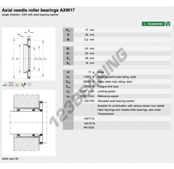 AXW17-INA - 17x33x3.2 mm
