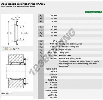 AXW35-INA - 35x55x3.2 mm
