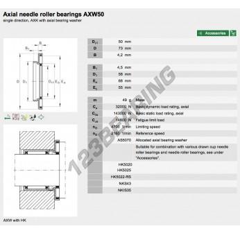 AXW50-INA - 50x73x4.2 mm
