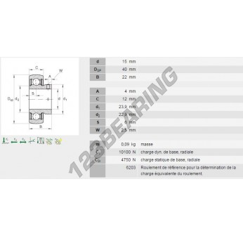 AY15-NPP-B-INA - 15x40x22 mm