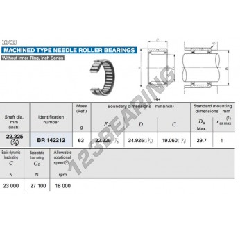 BR142212-IKO - 22.23x34.93x19.05 mm