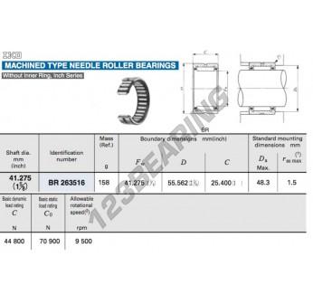 BR263516-IKO - 41.28x55.56x25.4 mm