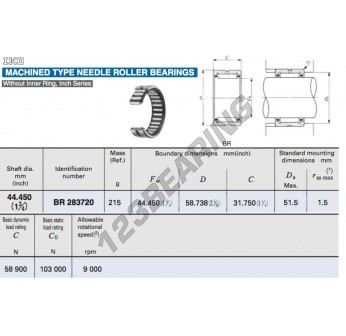 BR283720-IKO - 44.45x58.74x31.75 mm