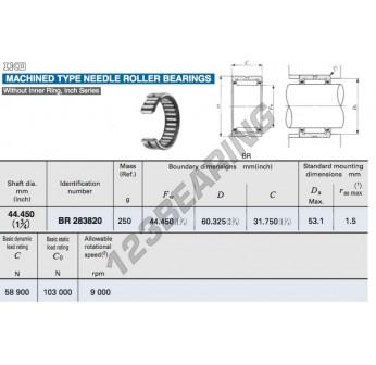 BR283820-IKO - 44.45x60.33x31.75 mm