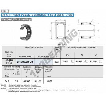 BR303920-UU-IKO - 47.63x61.91x31.75 mm