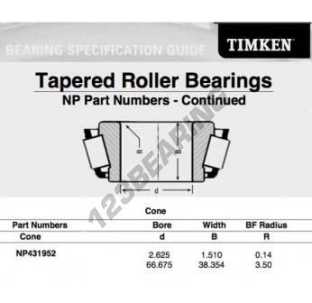 Timken NP431952 Bearing