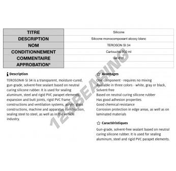 SI34WHITE-CARTOUCHE300ML-TEROSON